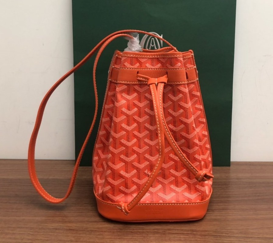 Goyard Petit Flot Bucket Bag 020196 Orange