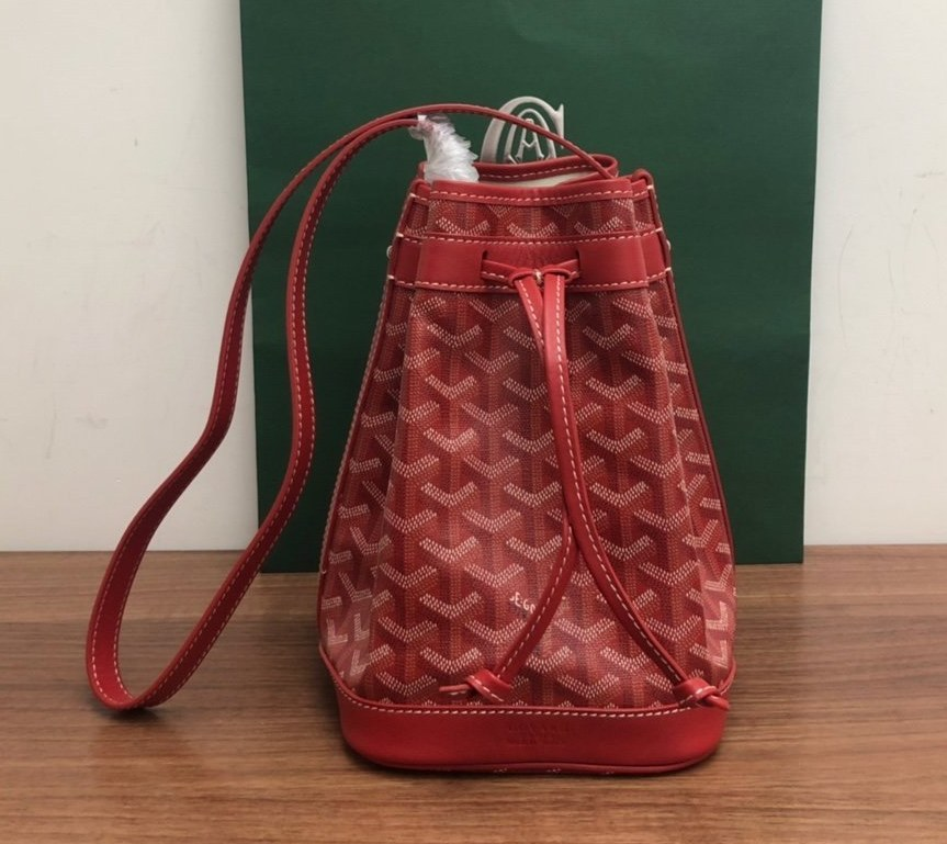 Goyard Petit Flot Bucket Bag 020196 Red
