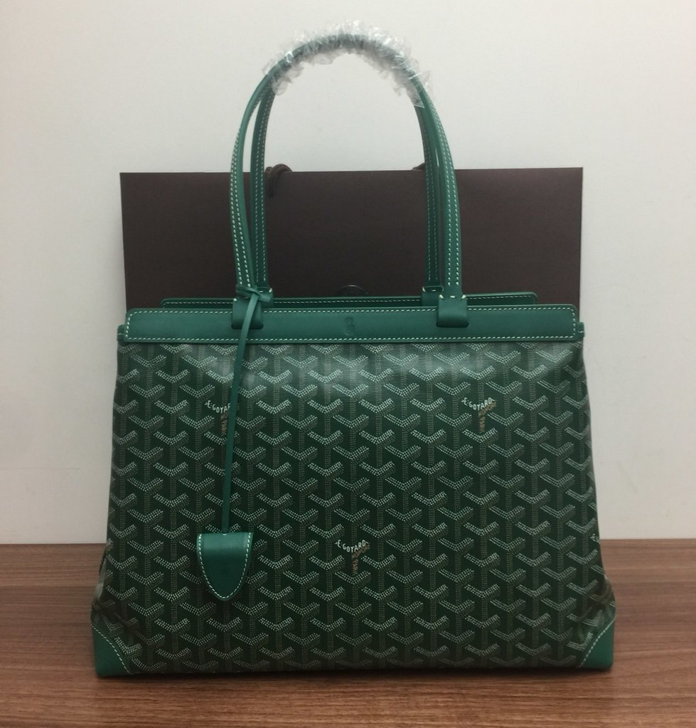 Goyard Bellechasse Biaude Tote PM 120161A Green