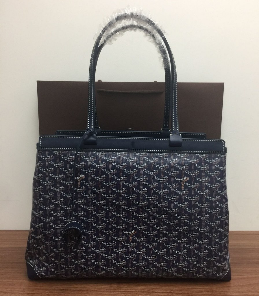 Goyard Bellechasse Biaude Tote PM 120161A Navy Blue