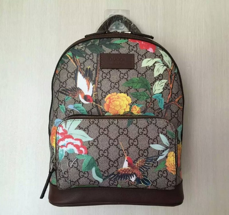 4987623f10114a Gucci Tian GG Supreme Small Backpack 427042 Coffee Leather [427042 ...