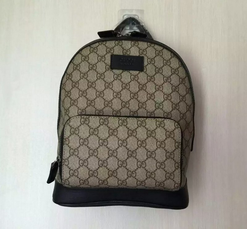 7aec0c475b7 Gucci Eden GG Supreme Small Backpack 406370 Black Leather