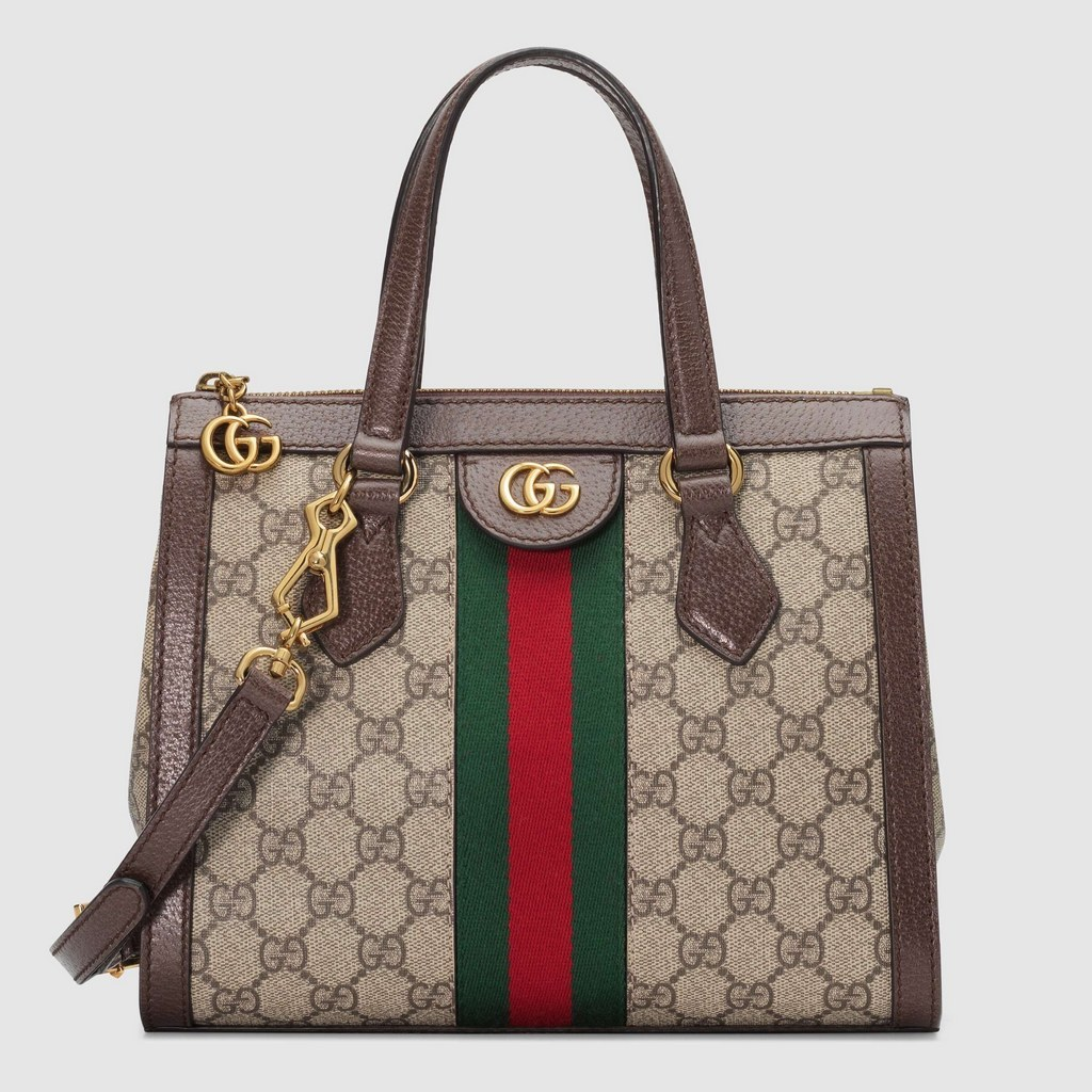 Gucci Ophidia Small GG Tote Bag 547551 Brown Leather