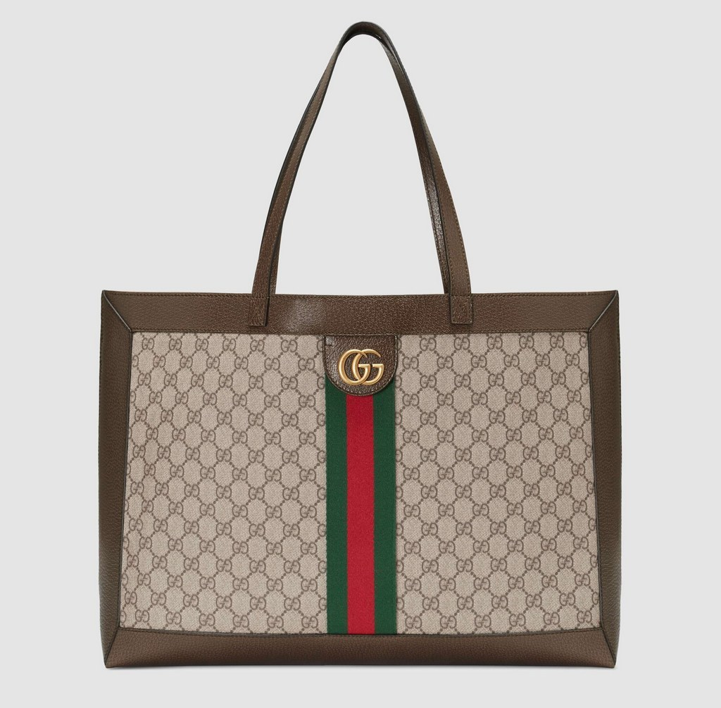 Gucci Ophidia GG Tote 547947 Brown Leather