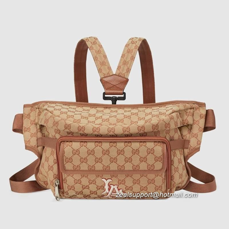 Gucci Belt Bag with LA Angels™ Patch 536842 Brick red