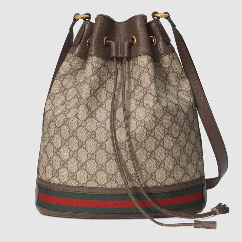 Gucci Ophidia GG Bucket Bag 540457 Brown