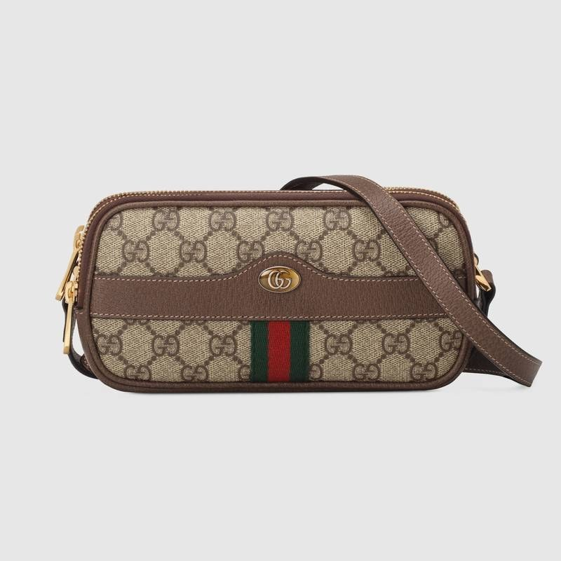 Gucci Ophidia Mini GG Bag 546597 Brown Leather