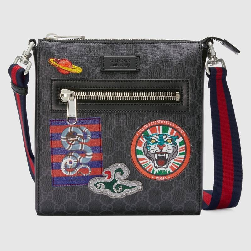 Gucci Night Courrier GG Supreme Messenger 547751 Black