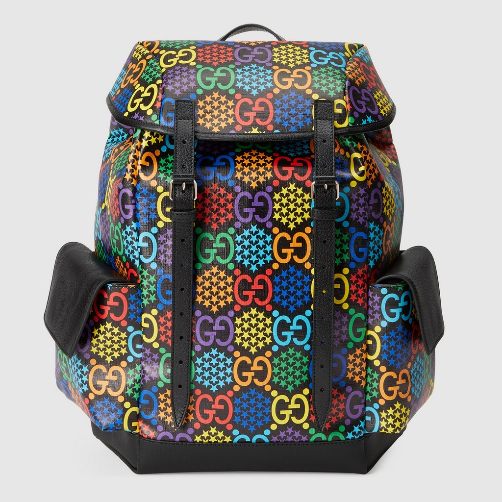 Gucci GG Psychedelic Medium Backpack ‎598140 Black Leather
