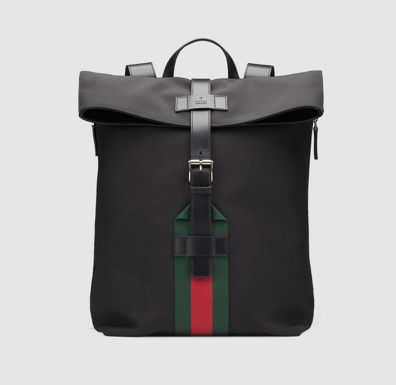 Gucci Techno Canvas Backpack 337075 Black