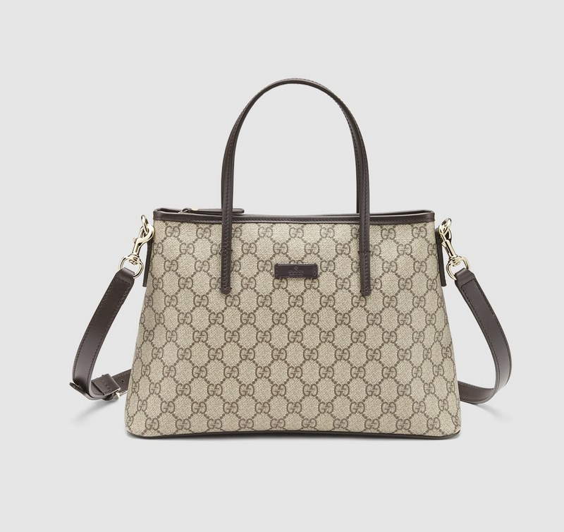 Gucci GG Supreme Canvas Tote 353440 Brown