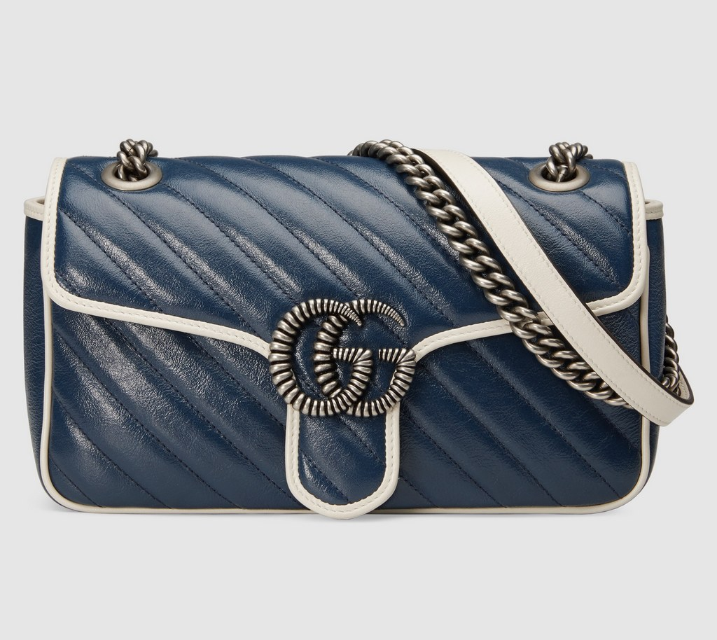 Gucci GG Marmont Small Shoulder Bag 443497 Blue