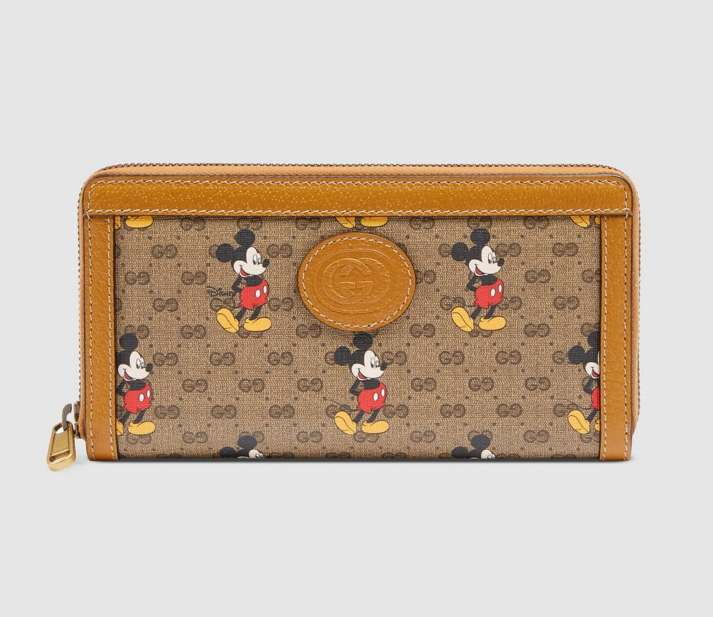 Gucci Disney X Zip Around Wallet 602532 Light Brown