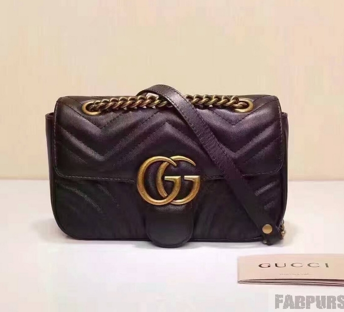 Gucci GG Marmont Matelasse Mini Bag 446744 Black