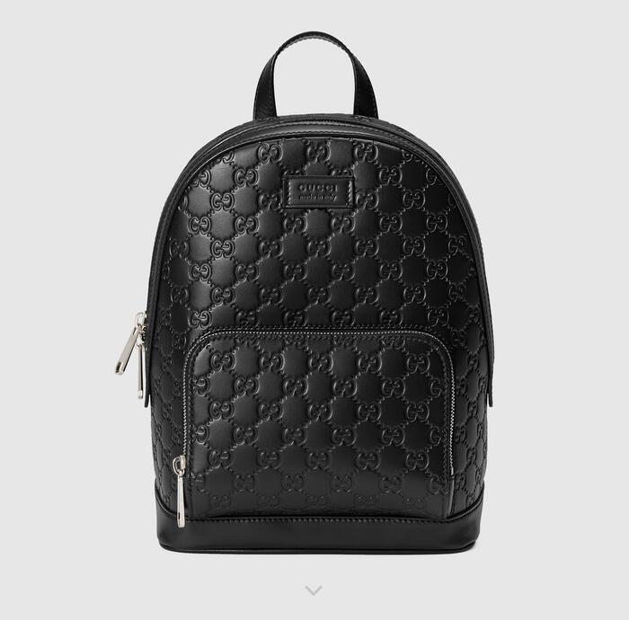 Gucci Signature Leather Backpack 450967 Black