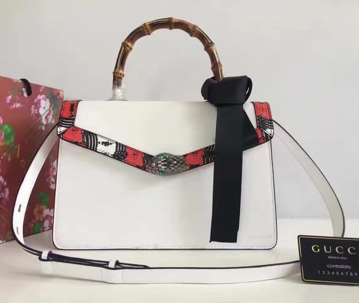 Gucci Lilith Leather Top Handle Bag 453751 White