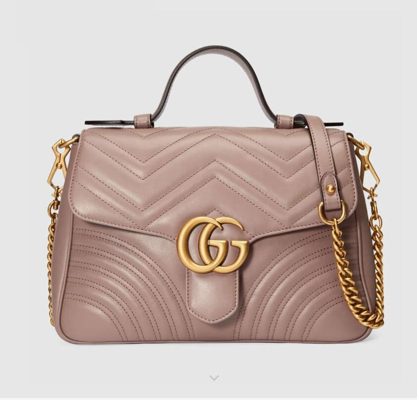 Gucci GG Marmont Small Top Handle Bag 498110 Light Pink