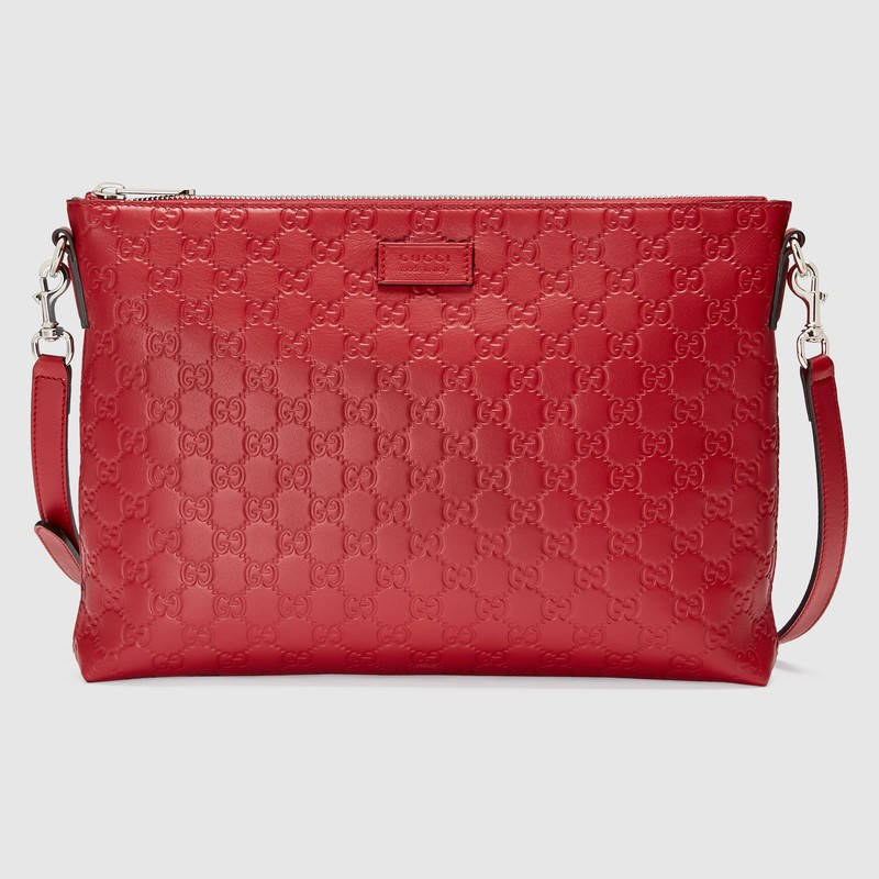 Gucci Signature Soft Messenger 473882 Red