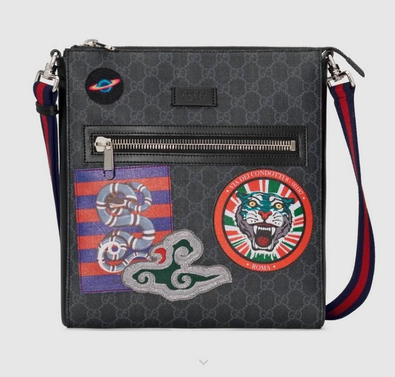 Gucci Night Courrier GG Supreme Messenger 474137 Black