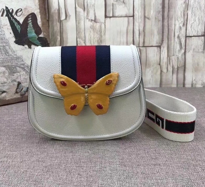 Gucci GucciTotem Small Shoulder Bag 505388 Ivory
