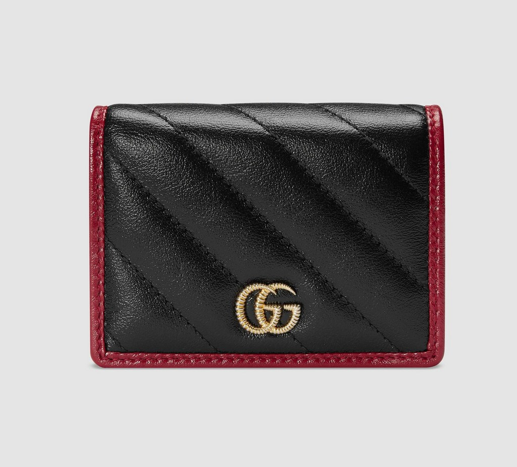 Gucci GG Marmont Card Case Wallet 573811 Black