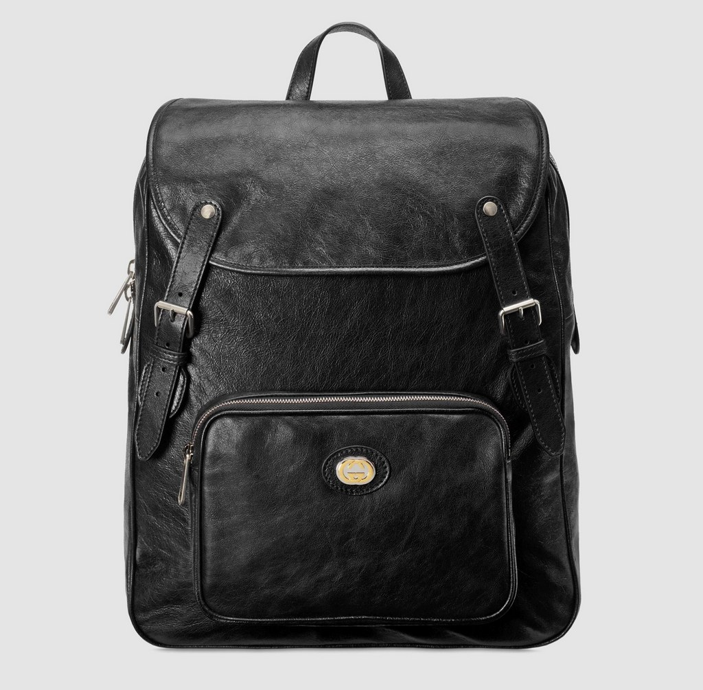 Gucci Soft Leather Medium Backpack ‎575823 Black
