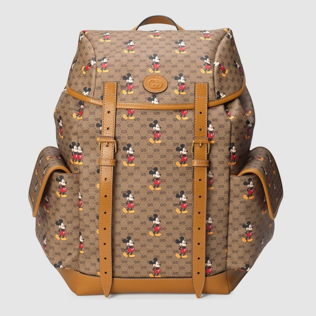 Gucci Disney X Gucci Medium Backpack ‎603898 Light Brown Leather