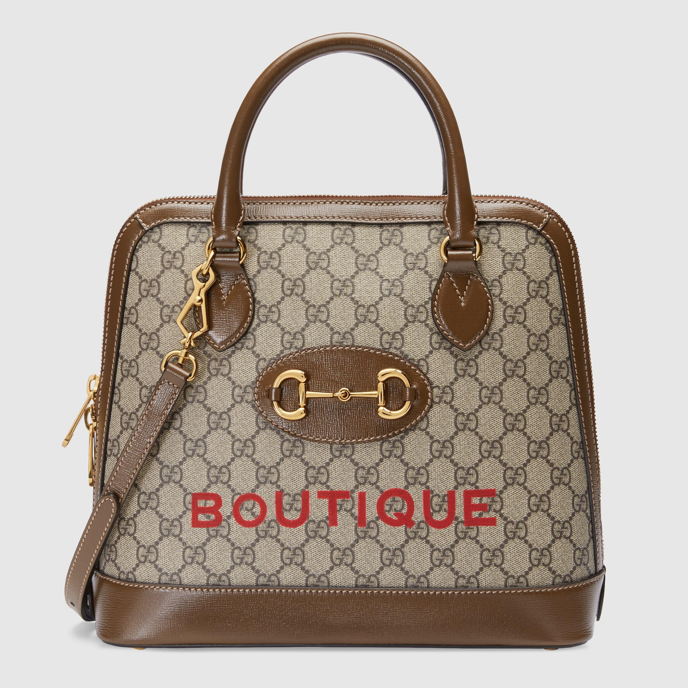 Gucci Horsebit 1955 Medium Top Handle Bag 620850 Brown Leather