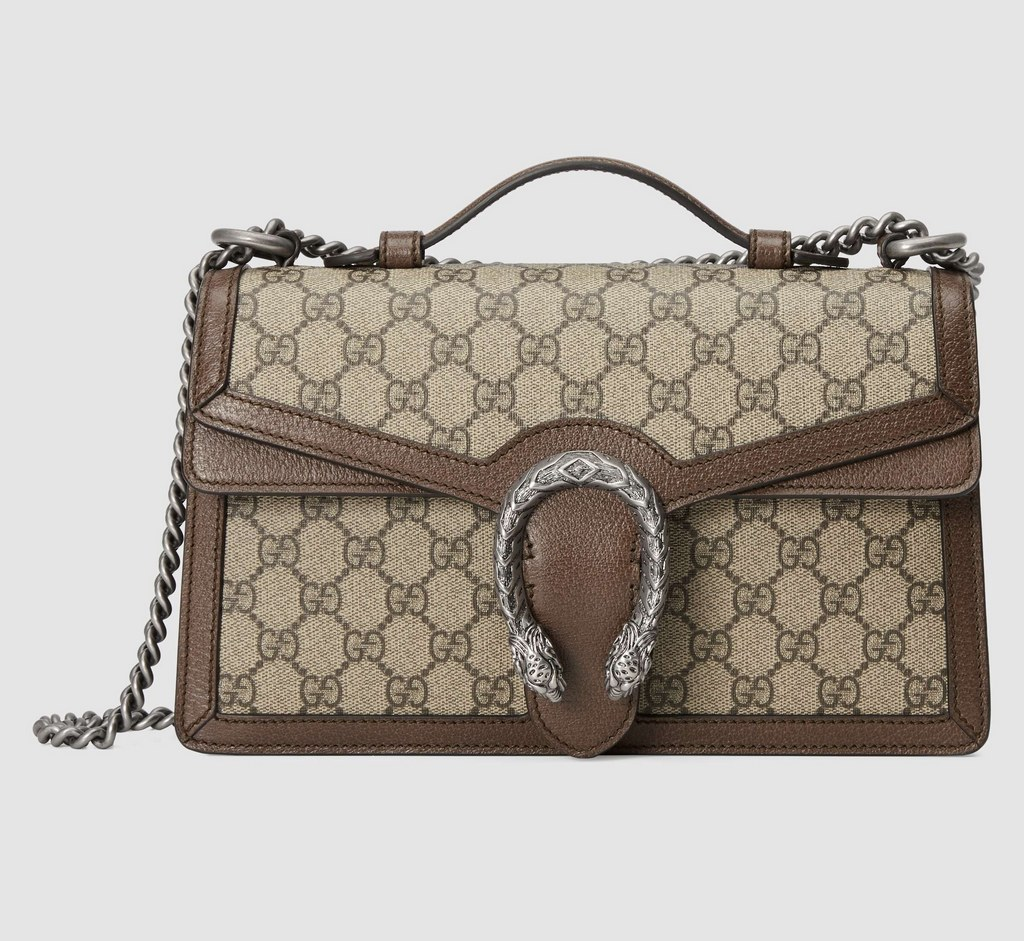 Gucci Dionysus GG Top Handle Bag 621512 Brown Leather