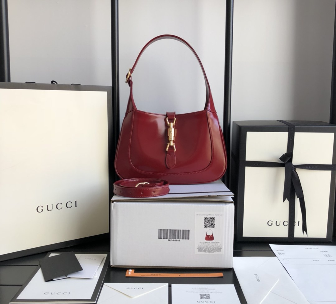 Gucci Jackie 1961 Small Hobo Bag 636709 Red