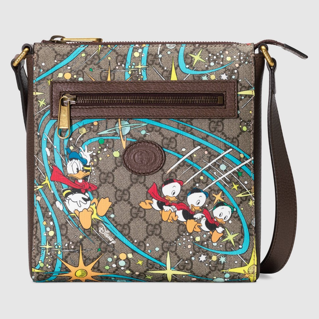 Gucci Disney X Gucci Donald Duck Messenger Bag 645054 Brown Leather