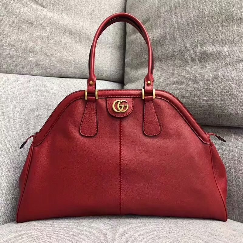 Gucci RE(BELLE) Large Top Handle Bag 515937 Red