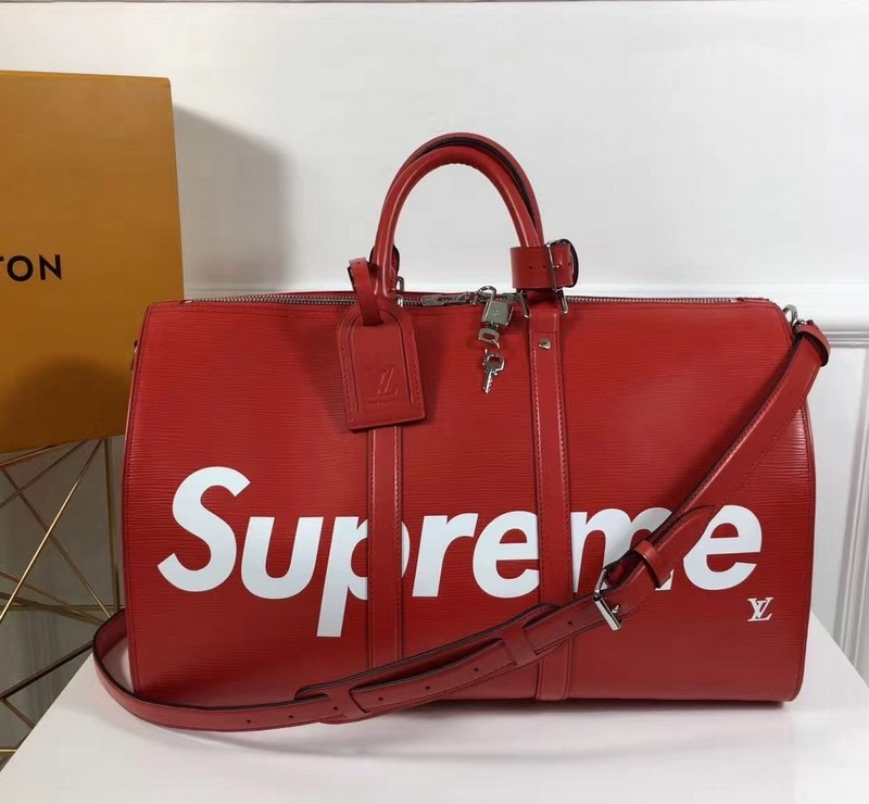 Louis Vuitton X Supreme Keepall Bandouliere 45 M41418 Red