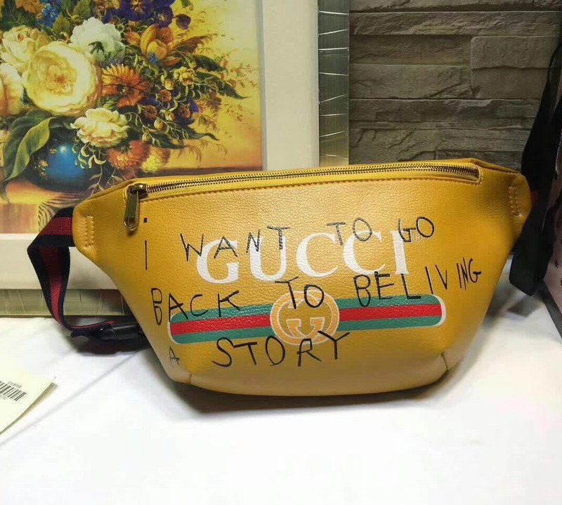 2eaaf3b12962 Gucci Coco Capitan Logo Belt Bag 493869 Yellow [493869 Yellow ...
