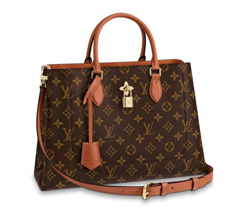 Louis Vuitton Monogram Canvas Flower Tote M43770 Caramel