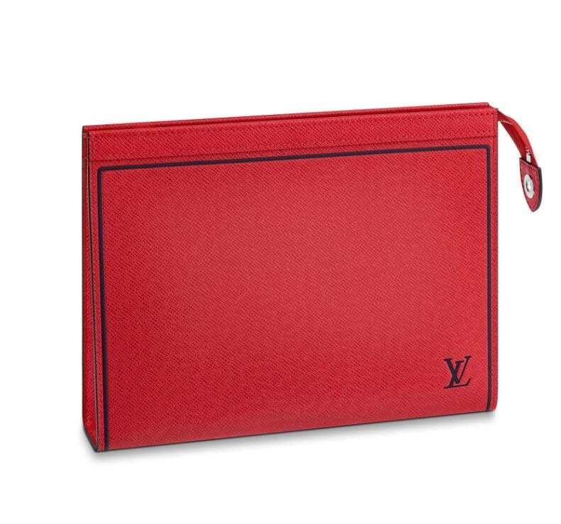99bb747dc0 Louis Vuitton Taiga Leather Pochette Voyage MM M63397 Red [M63397 ...
