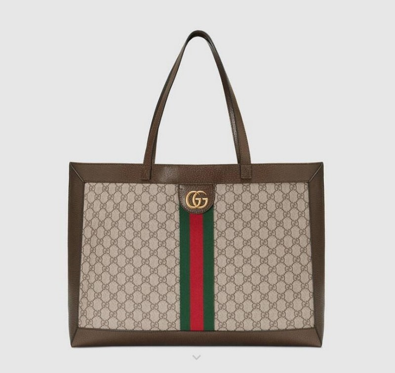 1d1f53614dc Gucci Nice GG Supreme Canvas Tote Bag 309613 Coffee Leather.  99. Buy Now ·  Gucci Ophidia GG Tote 547947 Brown Leather