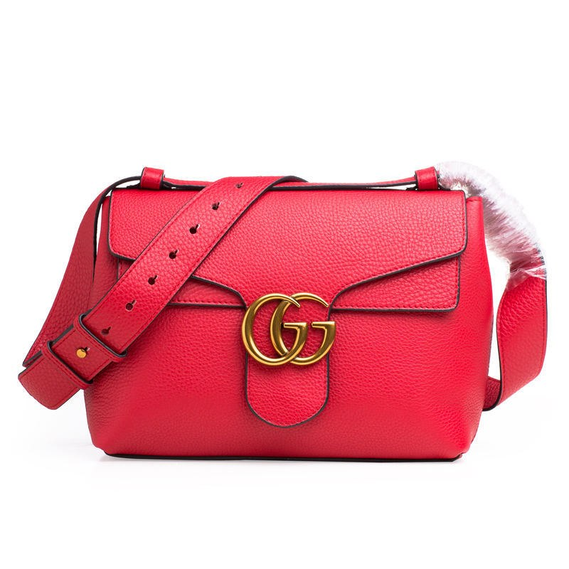 Gucci GG Marmont Leather Shoulder Bag 401173 Red  401173 Red  -  169 ... 71ee81b2e8f7e