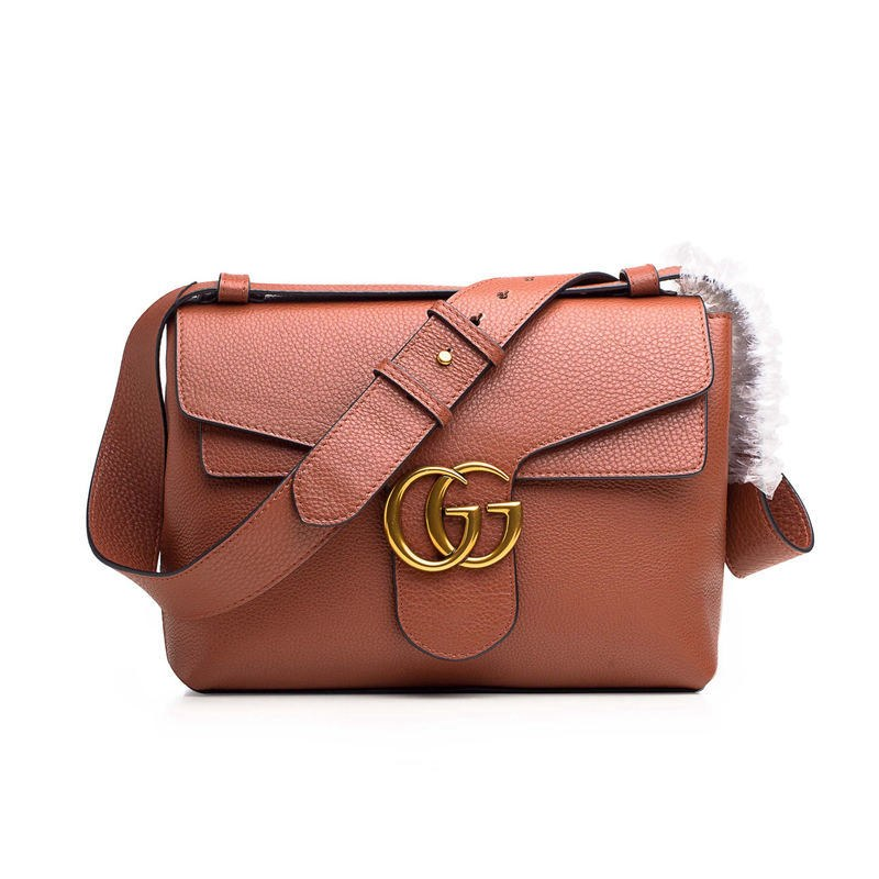 Gucci GG Marmont Leather Shoulder Bag 401173 Brown  401173 Brown ... 5a632aaee5938