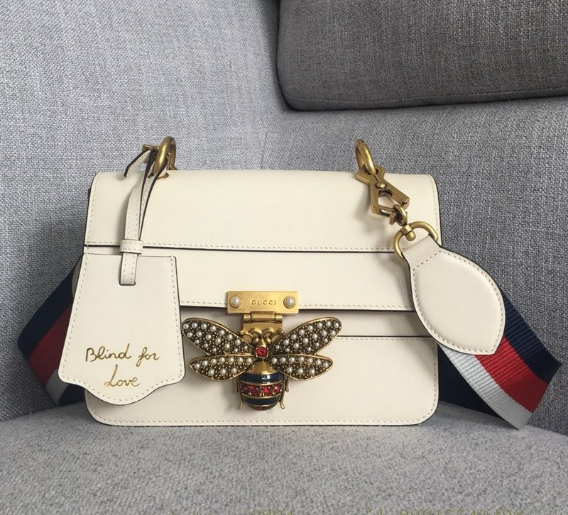 Gucci Queen Margaret Small Shoulder Bag ‎476542 White