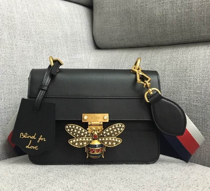 Gucci Queen Margaret Small Shoulder Bag ‎476542 Black