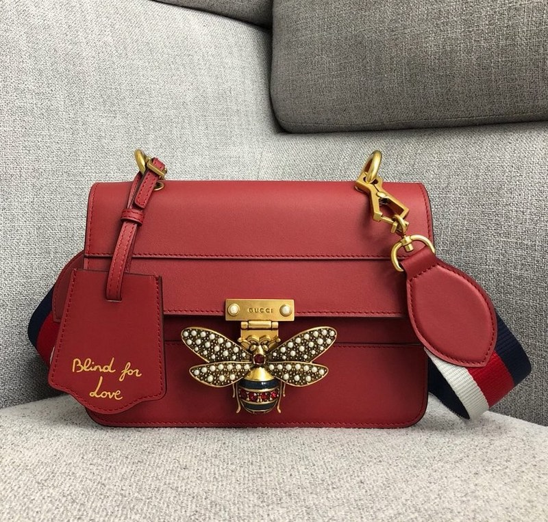 Gucci Queen Margaret Small Shoulder Bag ‎476542 Red