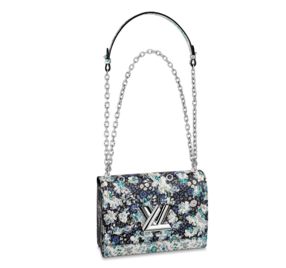 Louis Vuitton Printed Cowhide Twist MM M55037 Blue