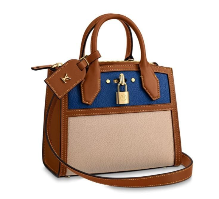 Louis Vuitton City Steamer Mini M55099 Blue/Beige
