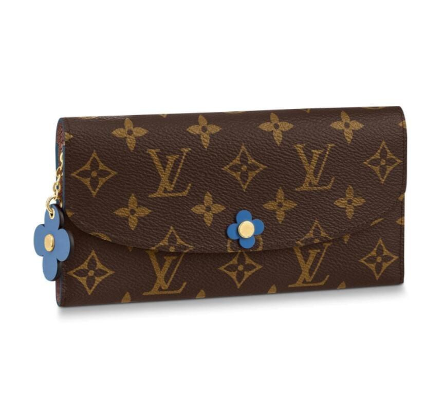 Louis Vuitton Monogram Canvas Emilie Wallet M63895 Blue Jean