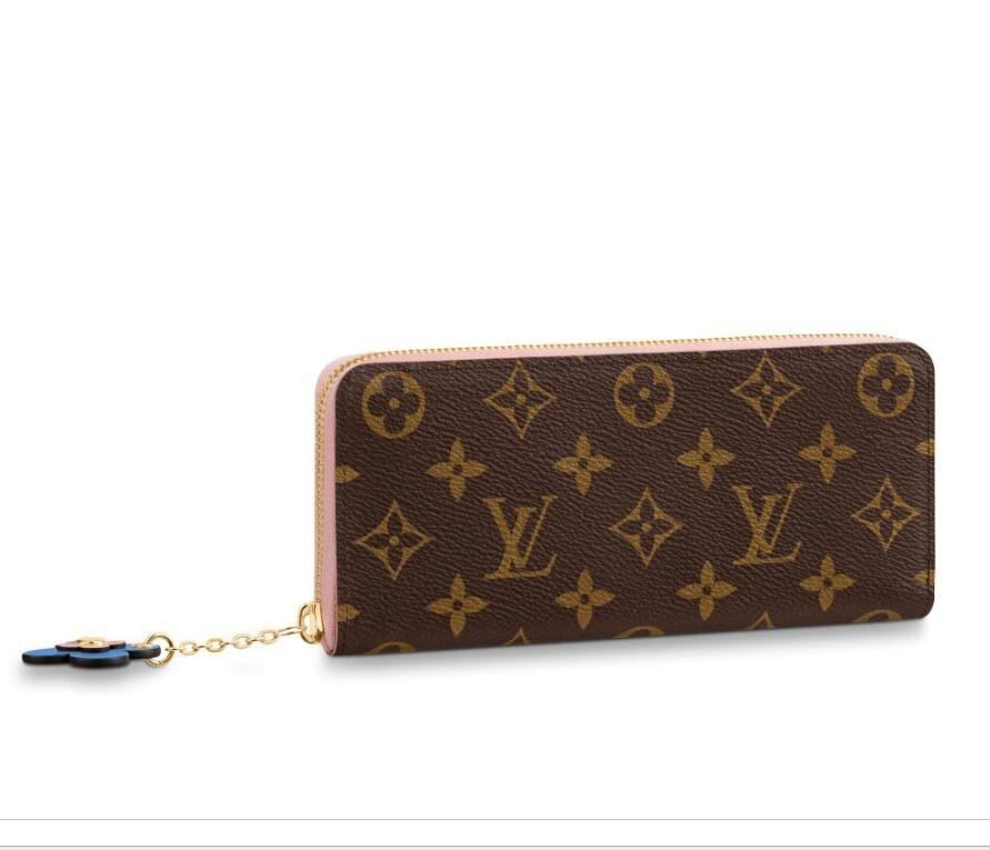 Louis Vuitton Monogram Canvas Clemence Wallet M63896 Rose Ballerine