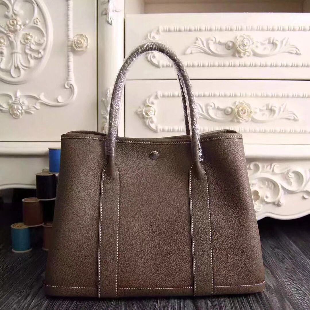 Hermes Garden Party 30 Bag H1689 Coffee