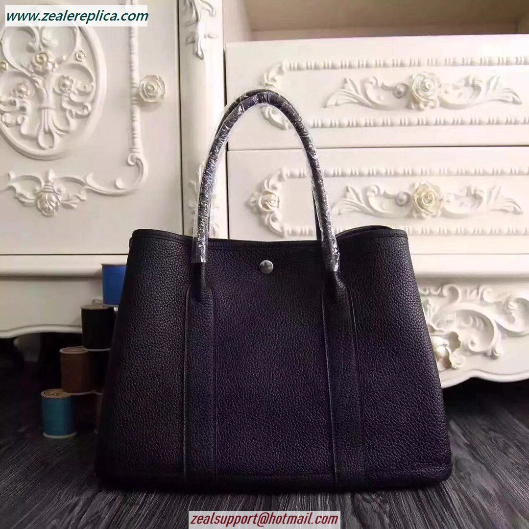 Hermes Garden Party 30 Bag H1689 Black