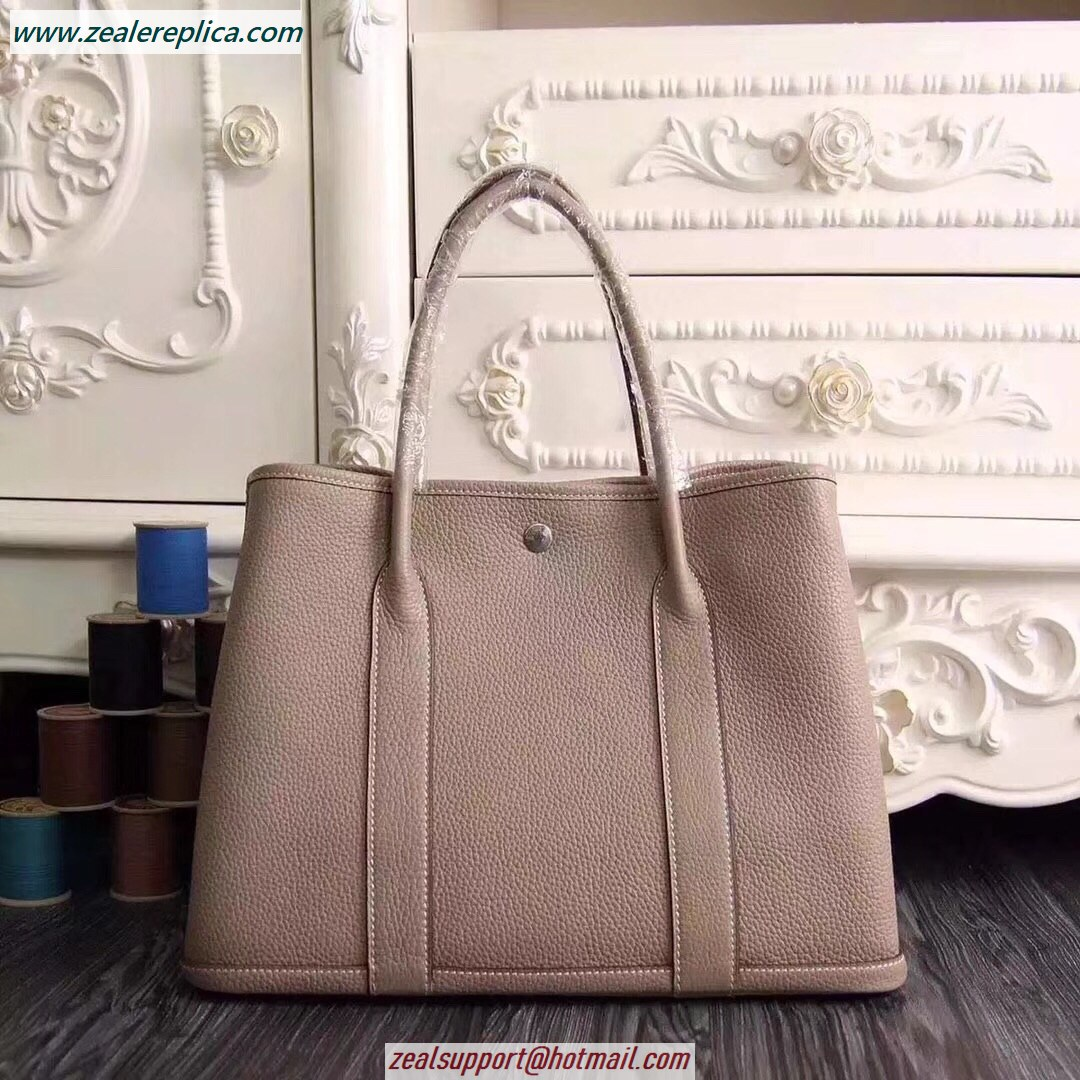 Hermes Garden Party 30 Bag H1689 Grey