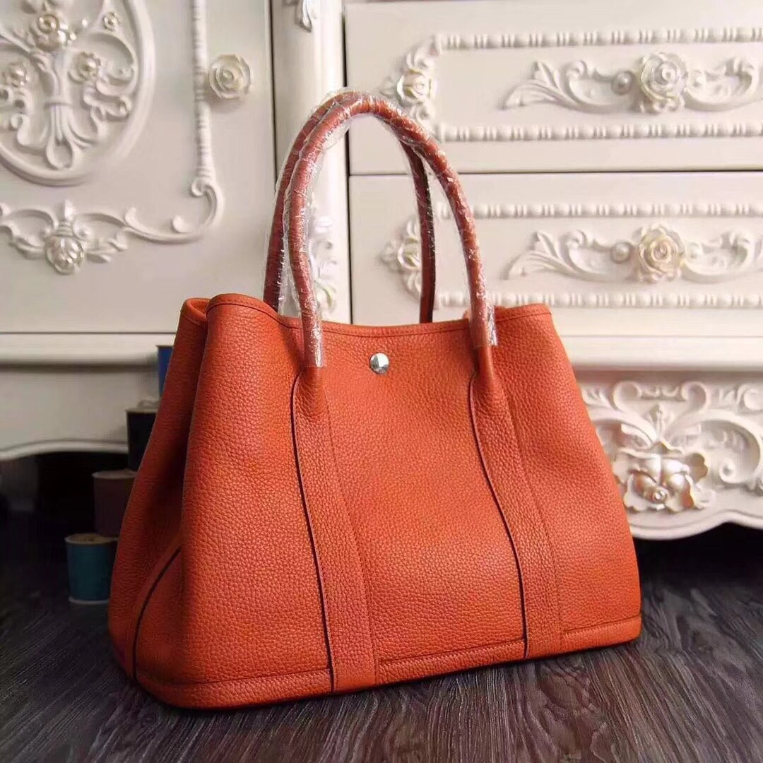 Hermes Garden Party 30 Bag H1689 Orange